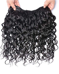 Remy Braziian Water Wave Human Hair One Bundles 8-30inch Natural Color