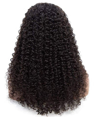 Synthetic Hair 13x6 Lace Front Wigs Kinky Curly Wig For Black Women Pre Plucked with Baby Hair 18inch Black Color