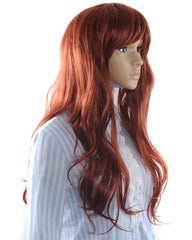 Synthetic Wigs New Fashion Kanekalon Long Wavy Sexy Hair Wig Wigs Wine Red Color