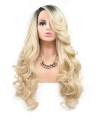 Synthetic Hair 13x4 Lace Frontal Wig Body Hair 1B/613 Color