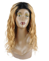 Ombre Remy Human Hair Body Wave Hair 4x4 Lace Closure Wig 14-26inch 1B/27 Color