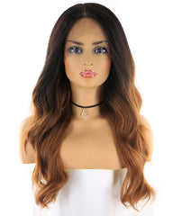Synthetic Body Wave Hair 13x4 Lace Frontal Wig 20inch 1B/30 Color