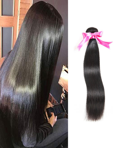 Remy Braziian Straight Human Hair One Bundles 8-30inch Natural Color