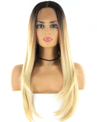Synthetic Straight Hair 13x4 Lace Frontal Wig 1B/613 Color