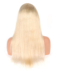 Ombre Remy Human Hair Straight 360 Lace Frontal Wig 10-24inch 1B/613 Color