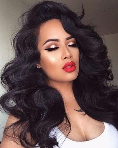 Remy Human Hair Body Wave Full Lace Wig 16-24inch Natural Color