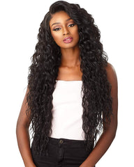 Synthetic Hair 13x6 Curly Wave Lace Front Wig Kanekalon Heat Resistant Fiber Hair Black Color