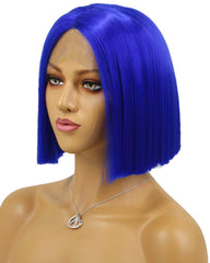 Short Bob Synthetic Hair Wigs Straight Hair Lace Frontal Wigs For Black Women With Baby Hair