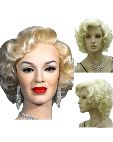 Synthetic Hair Marilyn Style Wig Women Short Curly Sexy Cosplay Costume Party Hot Quality Hair Wig Girls Free Cap+ Comb