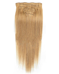 Clip In Human Hair Extensions Brazilian Remy Straight Hair #27 Color 7 Pieces/Set 120 grams