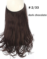 Ombre Halo In Synthetic Hair  Extensions  Wave Hair 16inch 120Gram