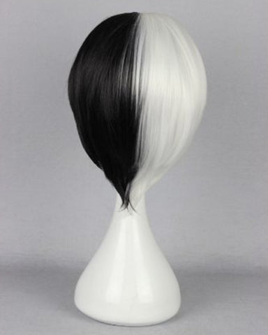 Synthetic Wig Short Black White Boy Girl Anime Show Party Hair