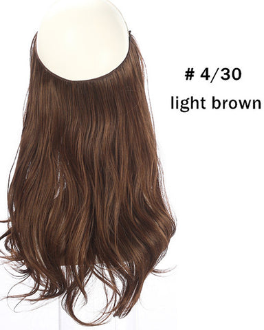 Ombre Halo In Synthetic Hair  Extensions  Wave Hair 14inch 120Gram
