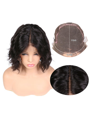 Remy Human Hair Body Wave Short Bob 13x6 Lace Front Wigs