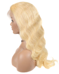 Remy Human Hair Body Wave Hair 13x6 Lace Frontal Wig 12-26inch 613 Color