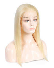 Remy Human Hair Straight 13x4 Lace Frontal Wig 8-24inch 613 Color