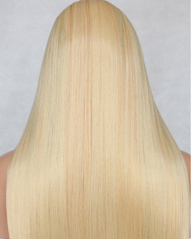 Remy Human Hair Straight None Lace Hair Wig 26inch 613 Color