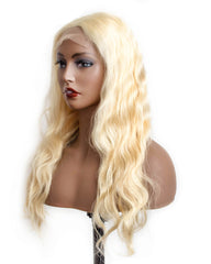 Remy Human Hair Body Wave Hair 4x4 Lace Closure Wig 10-24inch 613 Color