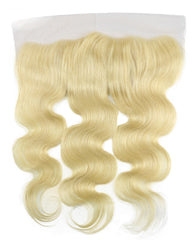 Remy Brazilian Human Hair Bundles Weaves with 13x4 Lace Frontal Body Wave Hair 613 Color