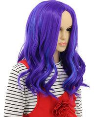 Kids Child Long Wave Purple and Blue Cosplay Wig Halloween Costumes Anime Party Wig(Kids)