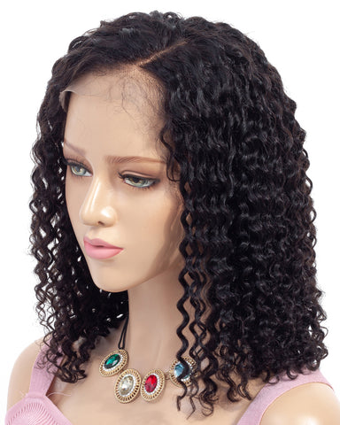 Remy Human Hair Deep Curly Short Bob 13x6 Lace Front Wigs