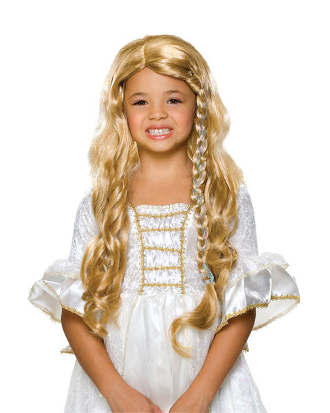 Synthetic Wig Glamorous Princess Child's Costume Wig Blonde Color