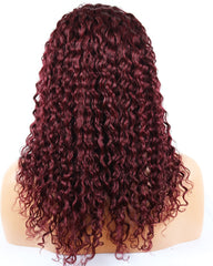 Ombre Remy Human Hair Curly Wave Full Lace Wig 16-24inch 1B/99J Color
