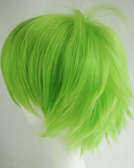 Women Men Cosplay Hair Wig Short Straight Anime Party Fluffy Costume Full Wigs Green Color