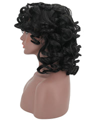 Short Curly Kinky Wigs for Black Women Synthetic Hair Wig Heat Resistant Wigs with Wig Cap