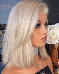 Synthetic Lace Front Wig Straight Hair 10 Inch Lace Wigs For Black Women Blonde Wig Lace Front Short Bob Wigs