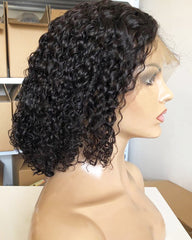Deep Wave Short Lace Front Human Hair Wigs Bob Afro Kinky Curly Frontal Wigs