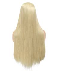 Long Straight Blonde Heat Resistant Fiber Synthetic Cosplay Wigs