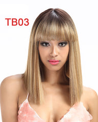 Synthetic Wig For Black Women/White Women Short Wig Straight 14 Inch Blonde Wig Cosplay Hair Synthetic Lace Front Wig