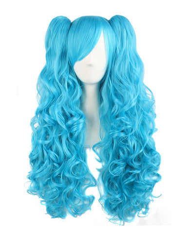 Ombre Wig Long Wave Wigs Stylish Party Cosplay Wigs Synthetic Heat Resistant 32inch