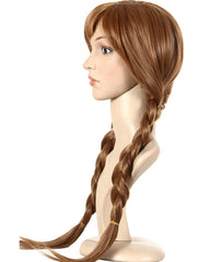 Synthetic Hair Cap+Movie Braided Wig for Cosplay Wig Brown Braid Princess Wigs for Women Girls Halloween Costume