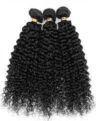 Remy Brazilian Human Hair Bundles Weaves with 4x4 Lace Closure Curly Wave Hair Natural Color