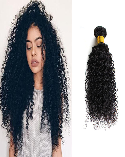 Remy Braziian Human Hair Deep Curly  Wave Hair One Bundles 8-30inch Natural Color