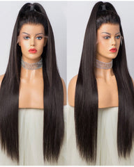 Remy Human Hair Straight Full Lace Wig 16-24inch Natural Color