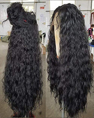 Long Loose Curly Synthetic Lace Front Wigs Black Color Hair for Fashion Women