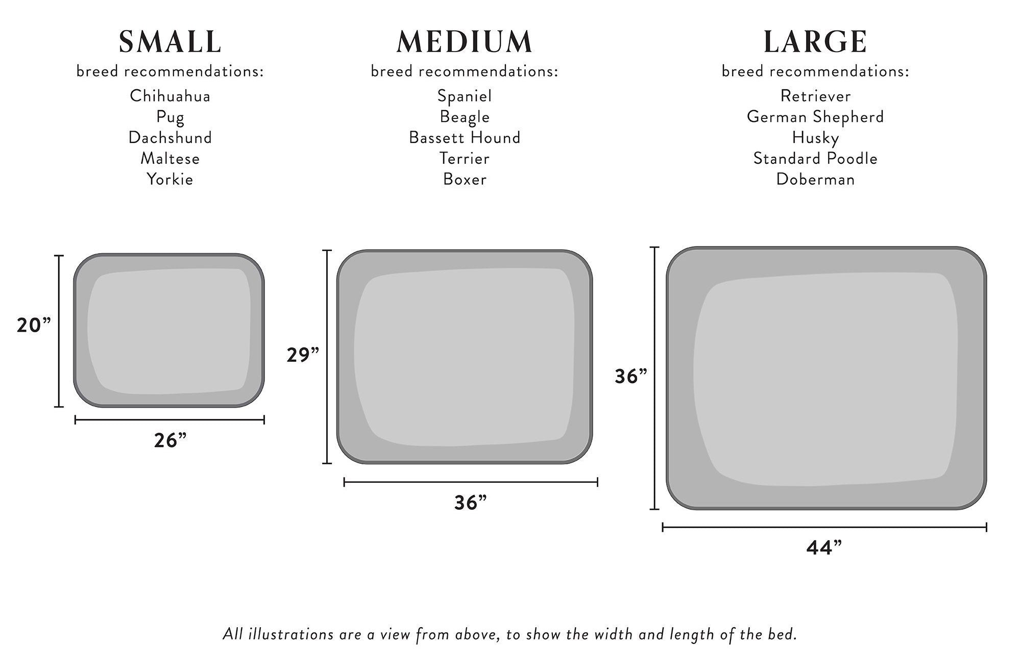 rectangular bed sizes