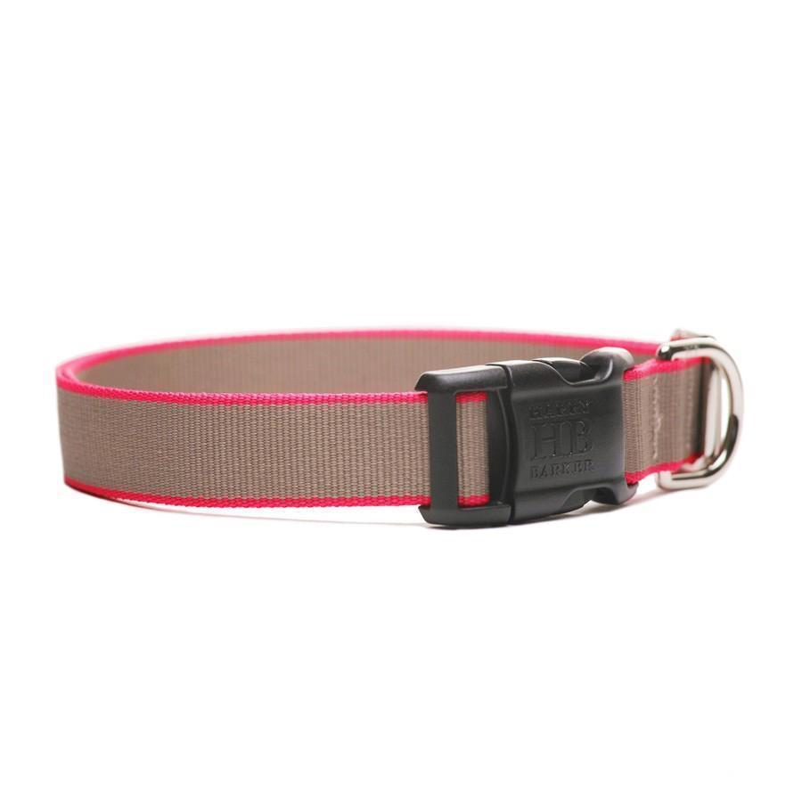 Collar - Pink & Taupe Chelsea Dog Collar