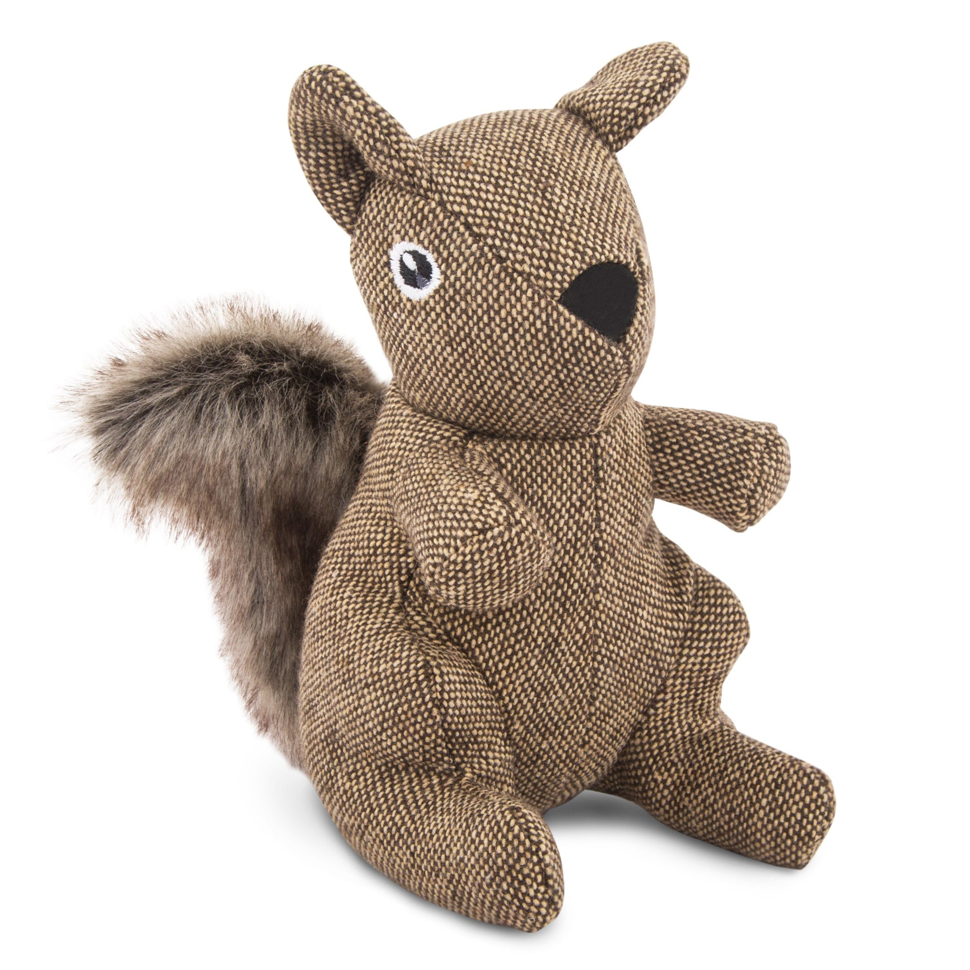 Plush Toy - Tweed Squirrel Plush Dog Toy