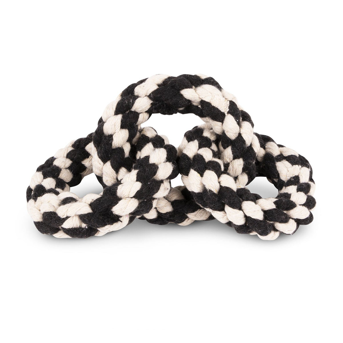 Rope Toy - Striped Tri-Ring Rope Dog Toy