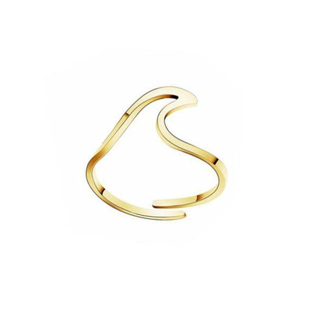 Wave Stainless Steel Ring