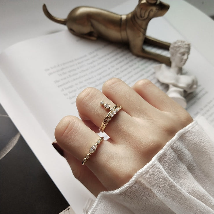 Pauline Sterling Silver Ring Collection