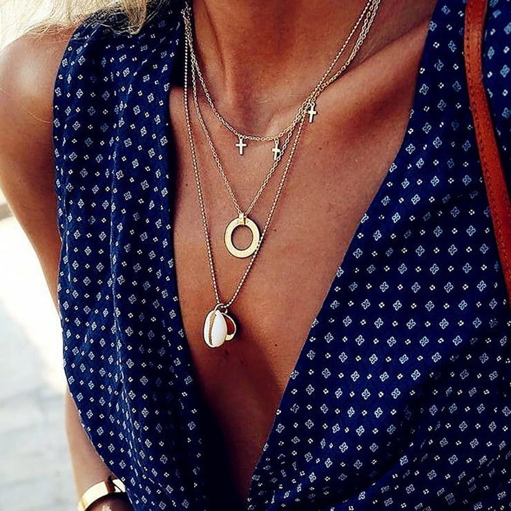 Sunshine Shell Necklace