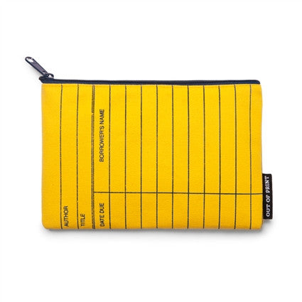 Yellow Library Card Pouch