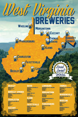 "West Virginia Breweries Limited Edition Poster (18""x24"")"