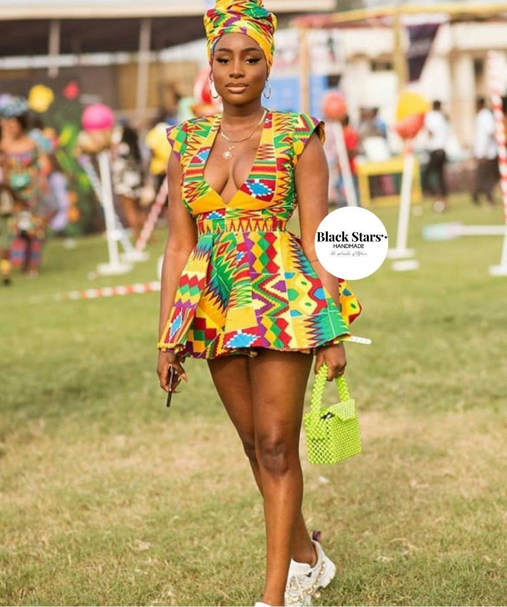 African Clothing Women S African Wear Kente Short Gown Prom Mini Gown Splendor Of Africa,Maxi Dress For Wedding Guest With Sleeves