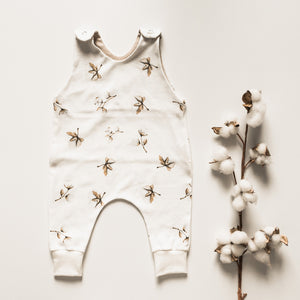 "Organic cotton overall ""COTTON FLOWERS"""